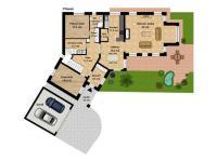 půdorys 1.NP (Prodej domu v osobním vlastnictví 294 m², Kamenice)