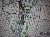 č.5 -územním plánem určeno k výstavbě RD (Prodej pozemku 12539 m², Malšice)