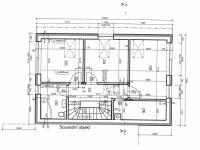 Dispozice 2NP - Prodej domu v osobním vlastnictví 118 m², Kostelec nad Černými lesy