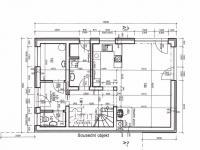 Dispozice 1NP - Prodej domu v osobním vlastnictví 118 m², Kostelec nad Černými lesy