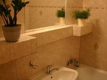 hezká koupelna s vanou - Prodej bytu 2+kk v osobním vlastnictví 44 m², Praha 10 - Horní Měcholupy