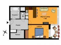 moderní prostorný 2kk - Pronájem bytu 2+kk v osobním vlastnictví 56 m², Praha 10 - Uhříněves