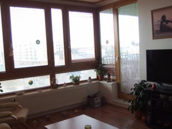 slunný obývací pokoj - Pronájem bytu 2+kk v osobním vlastnictví 56 m², Praha 10 - Uhříněves
