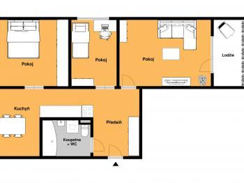 Prodej bytu 2+1 v osobním vlastnictví 52 m², Nehvizdy