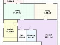 Prodej bytu 2+1 v osobním vlastnictví 71 m², Praha 4 - Kamýk