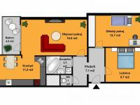 Prodej bytu 3+kk v osobním vlastnictví 69 m², Praha 8 - Kobylisy