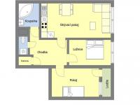 Orientační půdorys (Prodej bytu 3+kk v osobním vlastnictví 66 m², Praha 4 - Chodov)