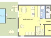 Orientační půdorys přízemí - Prodej domu v osobním vlastnictví 135 m², Drahelčice