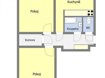Pronájem bytu 2+1 v osobním vlastnictví 55 m², Praha 10 - Vršovice