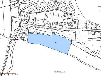 Katastrální mapa - Prodej pozemku 13863 m², Týnec nad Sázavou