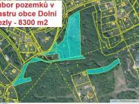 Prodej pozemku 8300 m², Dolní Zálezly