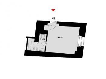 Pronájem kancelářských prostor 18 m², Písek