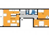 Půdorys 2D - Prodej bytu 3+1 v osobním vlastnictví 80 m², Praha 10 - Horní Měcholupy