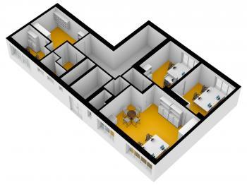Navrh rozmisteni 2 - Pronájem kancelářských prostor 115 m², Praha 4 - Krč