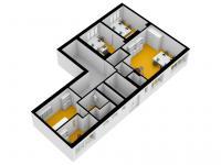 Pronájem komerčního prostoru (kanceláře) v osobním vlastnictví, 115 m2, Praha 4 - Krč