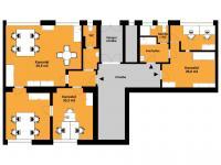 Pudorys - Pronájem kancelářských prostor 115 m², Praha 4 - Krč