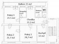 Prodej bytu 3+1 v družstevním vlastnictví 133 m², Ostrava