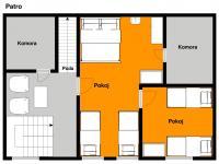 Půdorys patra - Prodej domu v osobním vlastnictví 103 m², Jablonec nad Jizerou