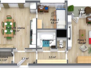 Byt 2+1 na prodej, Tanvald (Šumburk nad Desnou)