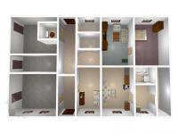 Přízemí - půdorys 3D (Prodej domu v osobním vlastnictví 333 m², Kašperské Hory)