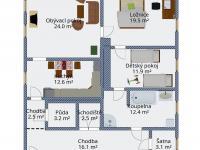 Podkroví - půdorys 2D (Prodej domu v osobním vlastnictví 333 m², Kašperské Hory)