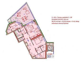 Prodej bytu 3+kk v osobním vlastnictví 126 m², Plzeň