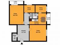 Prodej bytu 4+1 v osobním vlastnictví, 97 m2, Brno
