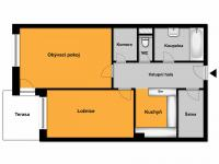 Půdorys - Prodej bytu 2+1 v osobním vlastnictví 149 m², Ostopovice