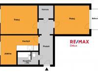 Půdorys bytu - Prodej bytu 2+1 v osobním vlastnictví 62 m², Hrušovany u Brna