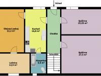 půdorys 1.np (Prodej domu v osobním vlastnictví 250 m², Otročín)