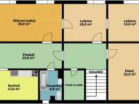 půdorys 2.np (Prodej domu v osobním vlastnictví 250 m², Otročín)