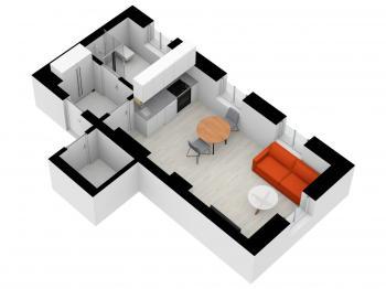 Prodej bytu 1+kk v osobním vlastnictví, 33 m2, Nové Hamry
