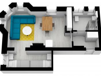 Prodej bytu 2+kk v osobním vlastnictví, 36 m2, Nové Hamry