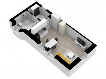 Prodej bytu 1+kk v osobním vlastnictví, 28 m2, Nové Hamry