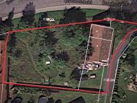 Vyznačen pozemek se stodolou (Prodej pozemku 1233 m², Jevany)