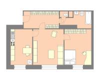 Prodej bytu 2+1 v osobním vlastnictví 69 m², Praha 4 - Michle