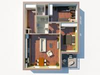 2D3D půdorys (Prodej bytu 3+kk v družstevním vlastnictví 76 m², Praha 9 - Hloubětín)