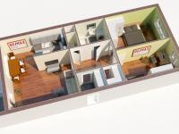 3D (Prodej bytu 3+kk v osobním vlastnictví 84 m², Praha 6 - Břevnov)