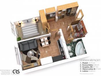 Prodej bytu 1+kk v osobním vlastnictví 40 m², Praha 9 - Letňany