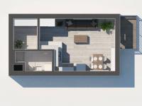 Prodej bytu 1+kk v osobním vlastnictví 35 m², Praha 9 - Letňany