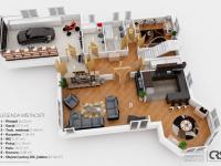 Půdorys 1. NP (Prodej domu v osobním vlastnictví 312 m², Jesenice)