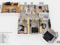 Půdorys 2. NP (Prodej domu v osobním vlastnictví 312 m², Jesenice)