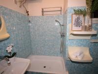 Koupelna (Prodej bytu 2+kk v osobním vlastnictví 67 m², Praha 8 - Karlín)