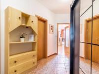 Předsíň s průhledem do obývacího pokoje (Prodej bytu 2+kk v osobním vlastnictví 43 m², Praha 5 - Motol)