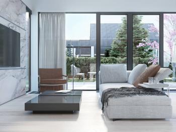 Vzdušný obývací prostor - Prodej domu v osobním vlastnictví 120 m², Vysoký Újezd