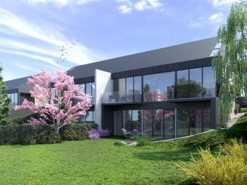Pohled ze zahrady - Prodej domu v osobním vlastnictví 120 m², Vysoký Újezd