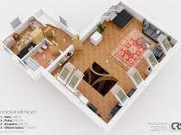 půdorys podlaží - Prodej domu v osobním vlastnictví 186 m², Zápy