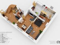 půdorys přízemí - Prodej domu v osobním vlastnictví 186 m², Zápy