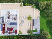 3d půdorys druhého patra - Pronájem domu v osobním vlastnictví 550 m², Praha 10 - Vršovice