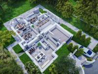3d půdorys suterénu - Pronájem domu v osobním vlastnictví 550 m², Praha 10 - Vršovice